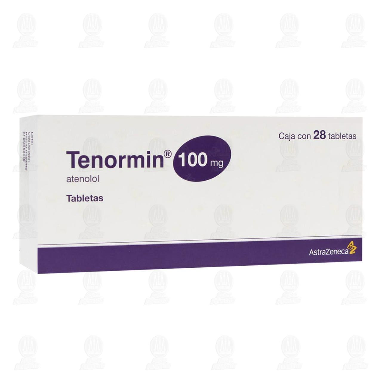 Comprar Tenormin 100mg 28 Tabletas en Farmacias Guadalajara