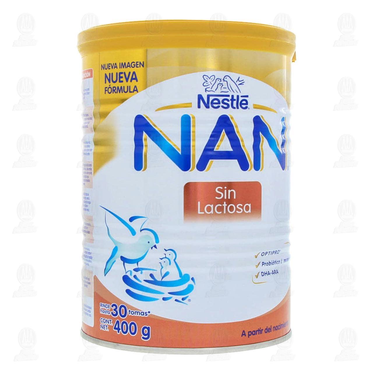 Comprar Fórmula Infantil NAN Sin Lactosa, 400 gr. en Farmacias Guadalajara