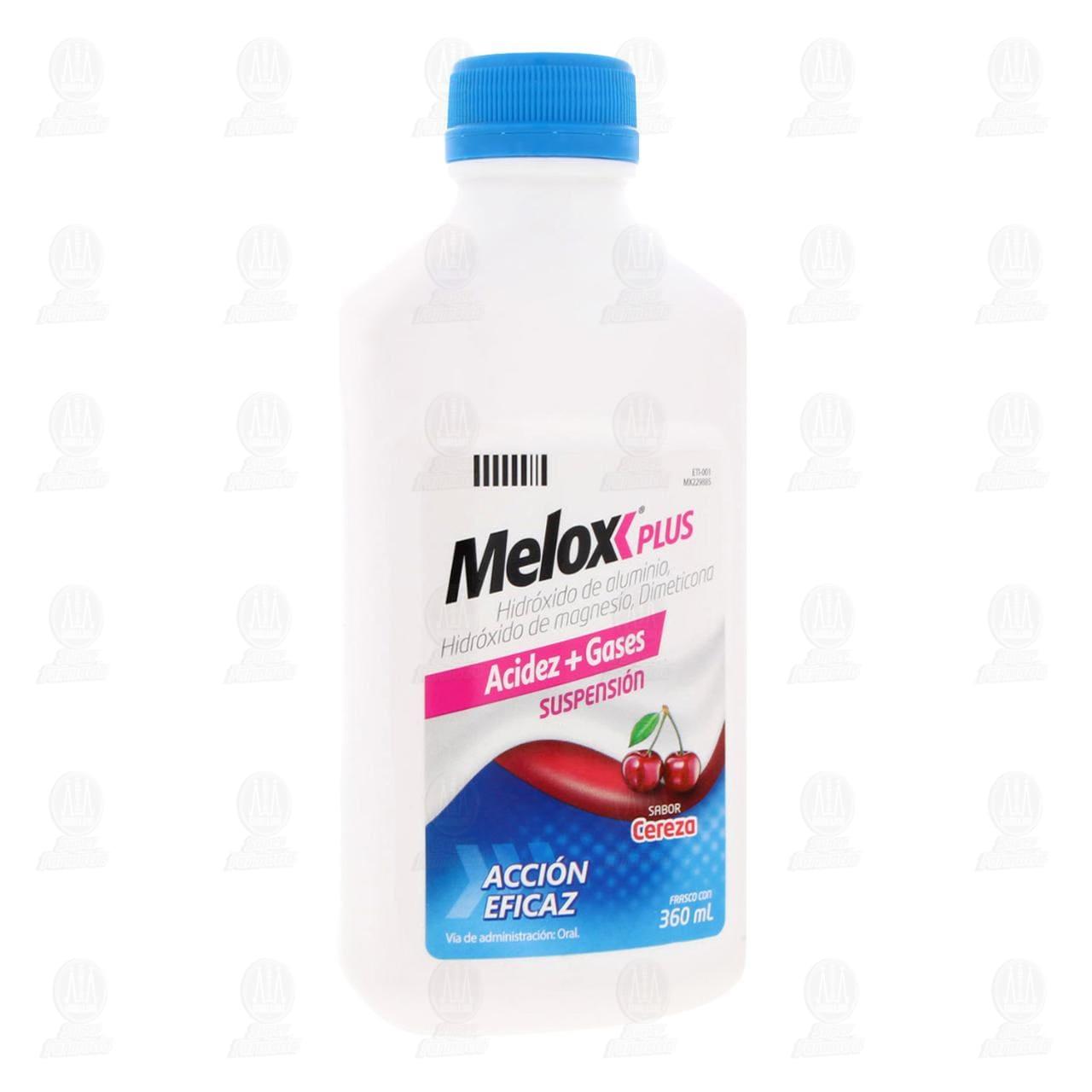 Comprar Melox Plus Suspensión Sabor Cereza 360ml en Farmacias Guadalajara