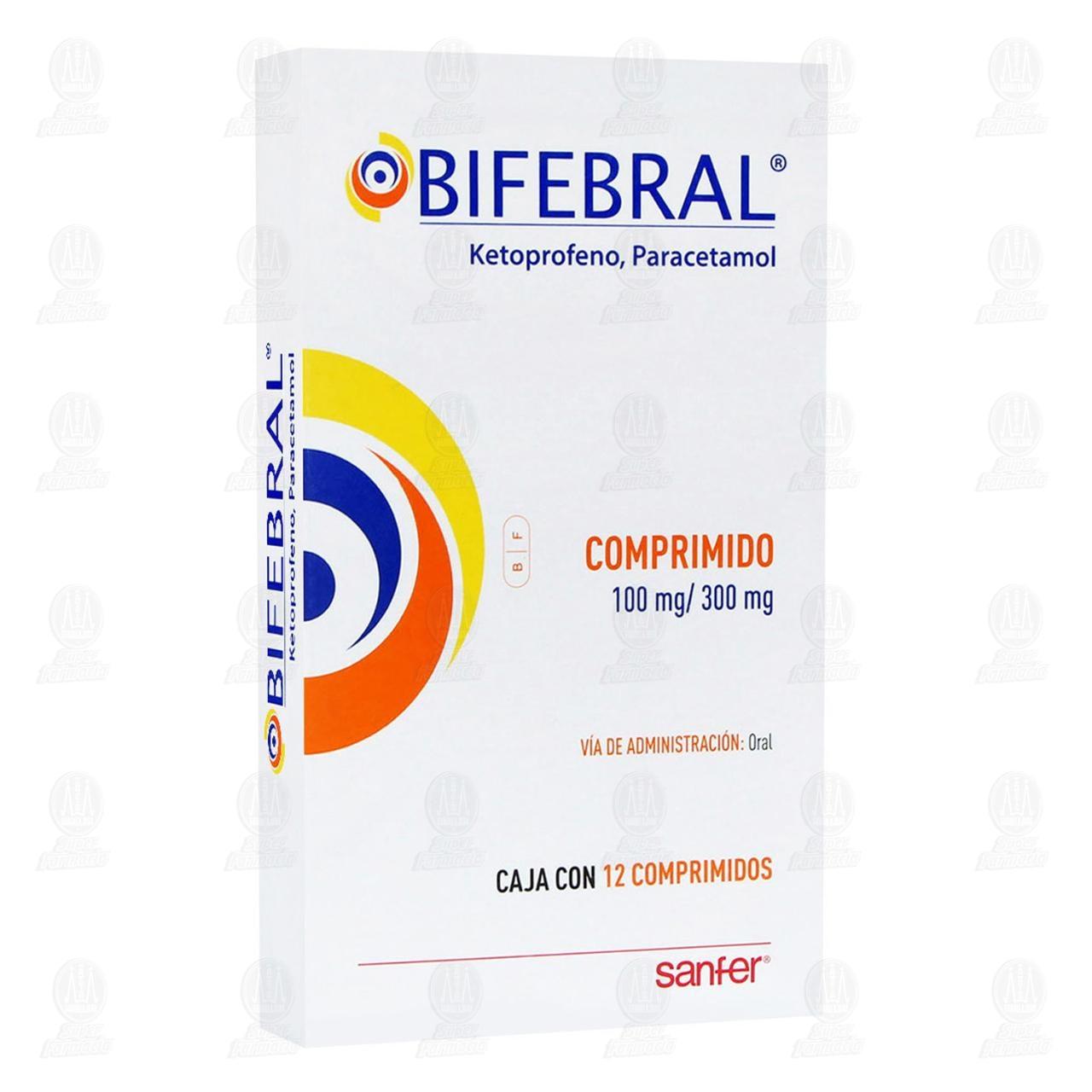 Comprar Bifebral 100mg/300mg 12 Comprimidos en Farmacias Guadalajara