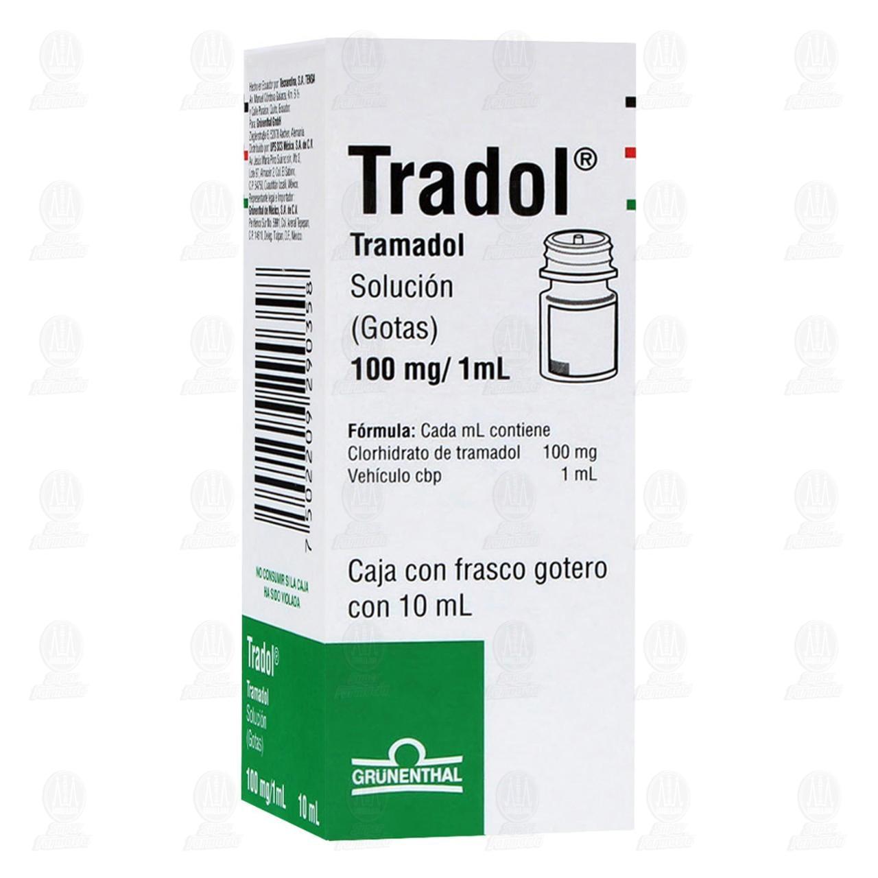 Comprar Tradol 100mg/1ml 10ml Solución Gotas en Farmacias Guadalajara