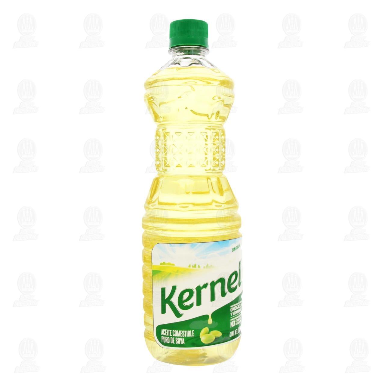 Aceite Comestible Kernel Puro de Soya, 900 ml.