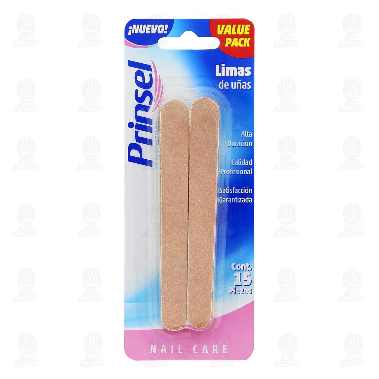 Lima Prinsel Nail Care para Uñas, 15 pzas.