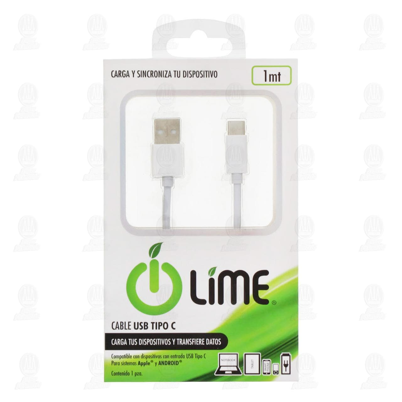 Cable Lime USB Tipo C, 1 Piezas.