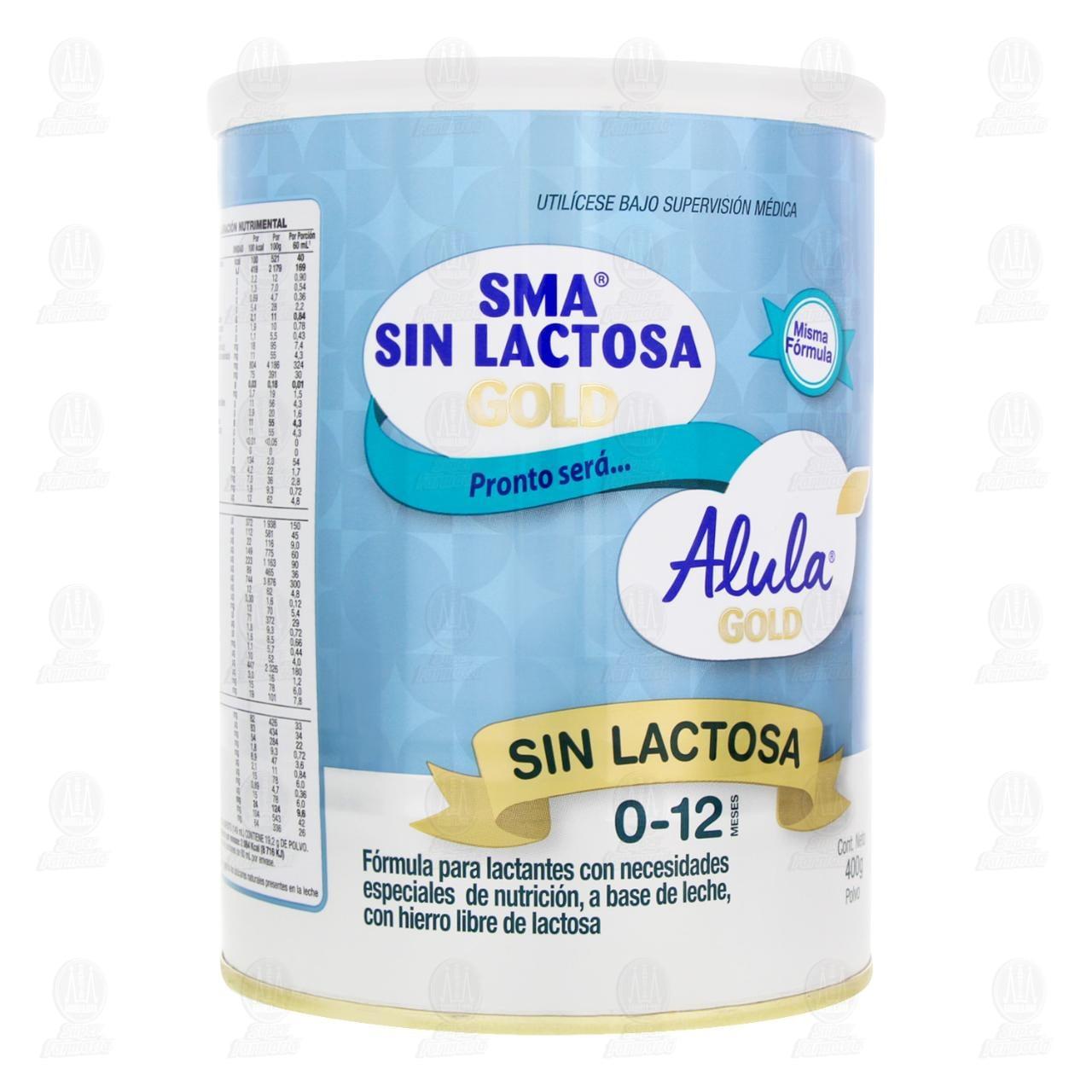 Comprar Fórmula Infantil SMA Gold Sin Lactosa en Polvo (Edad 0-12 Meses), 400 gr. en Farmacias Guadalajara