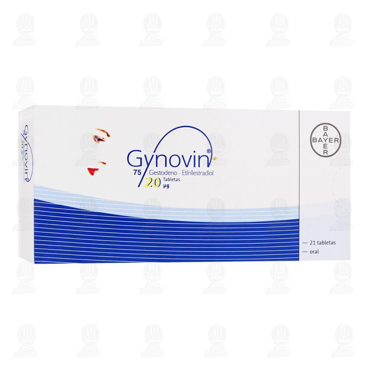Comprar Gynovin 20 Mg 21 Tabletas en Farmacias Guadalajara