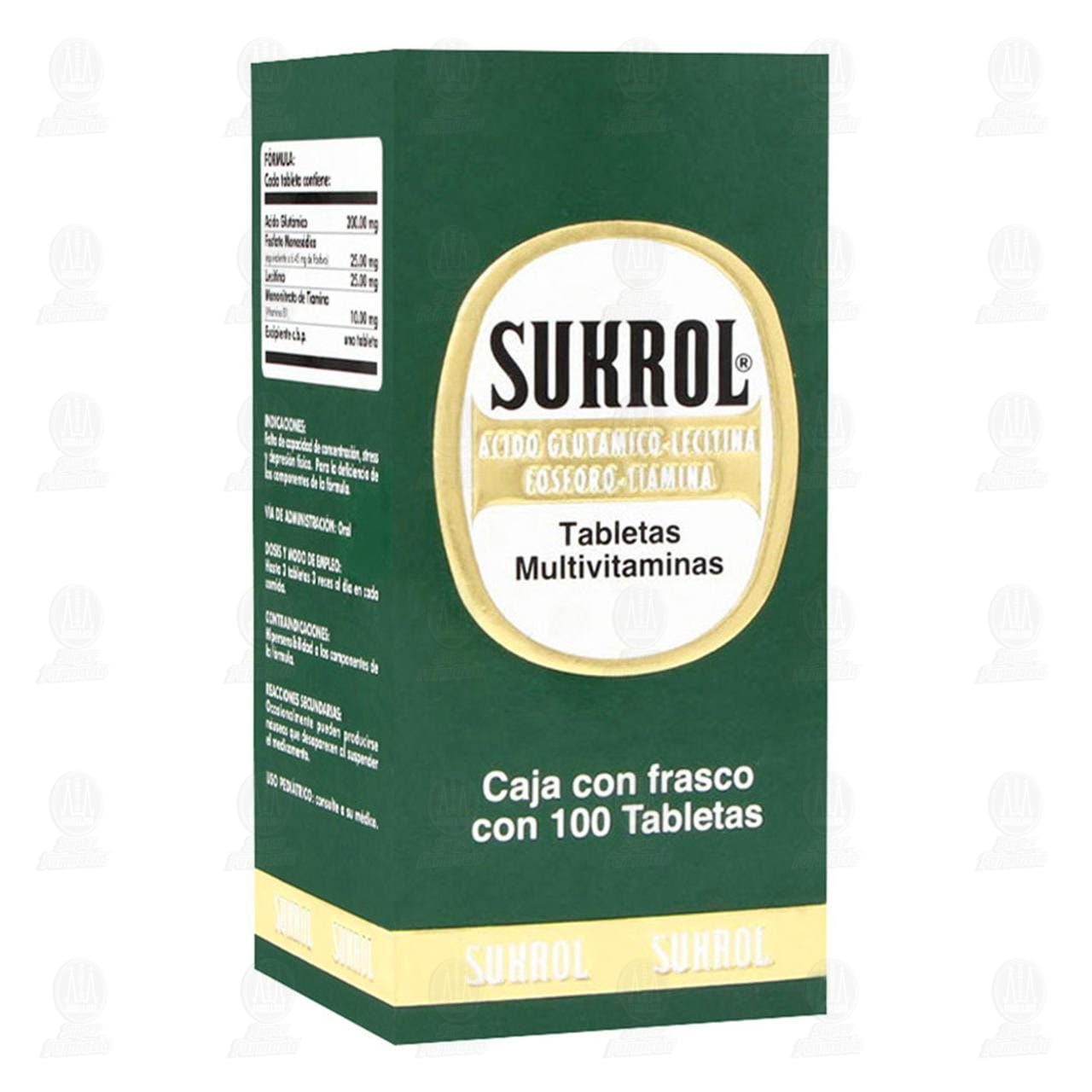 Comprar Sukrol 100 Tabletas en Farmacias Guadalajara