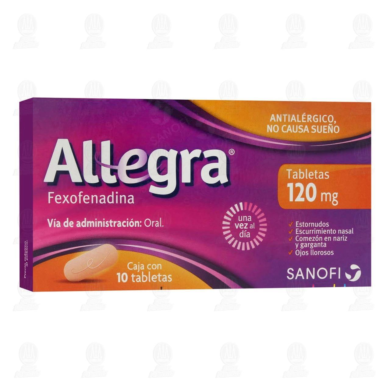 Allegra 120mg 10 Comprimidos Antihistamínico