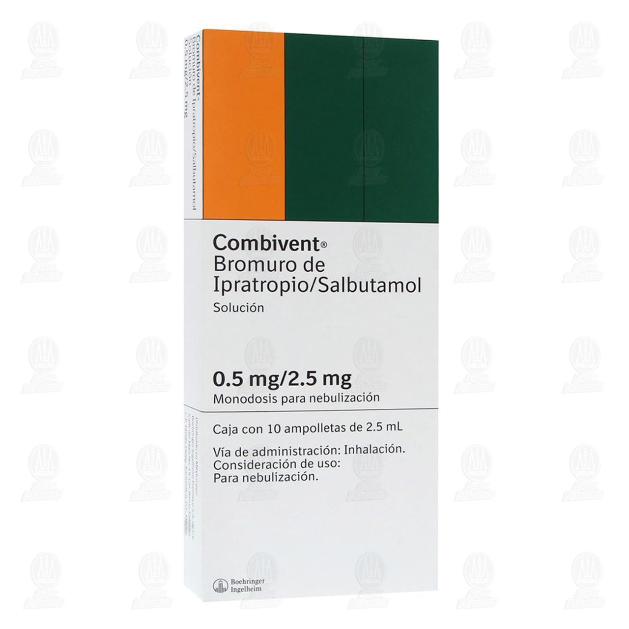 Comprar Combivent 0.5mg/2.5mg 10 Ampolletas 2.5ml en Farmacias Guadalajara