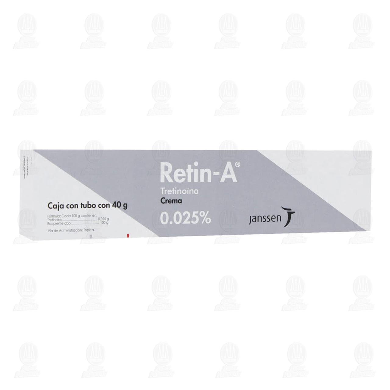 Comprar Retin-A Crema 0.025% 40gr en Farmacias Guadalajara