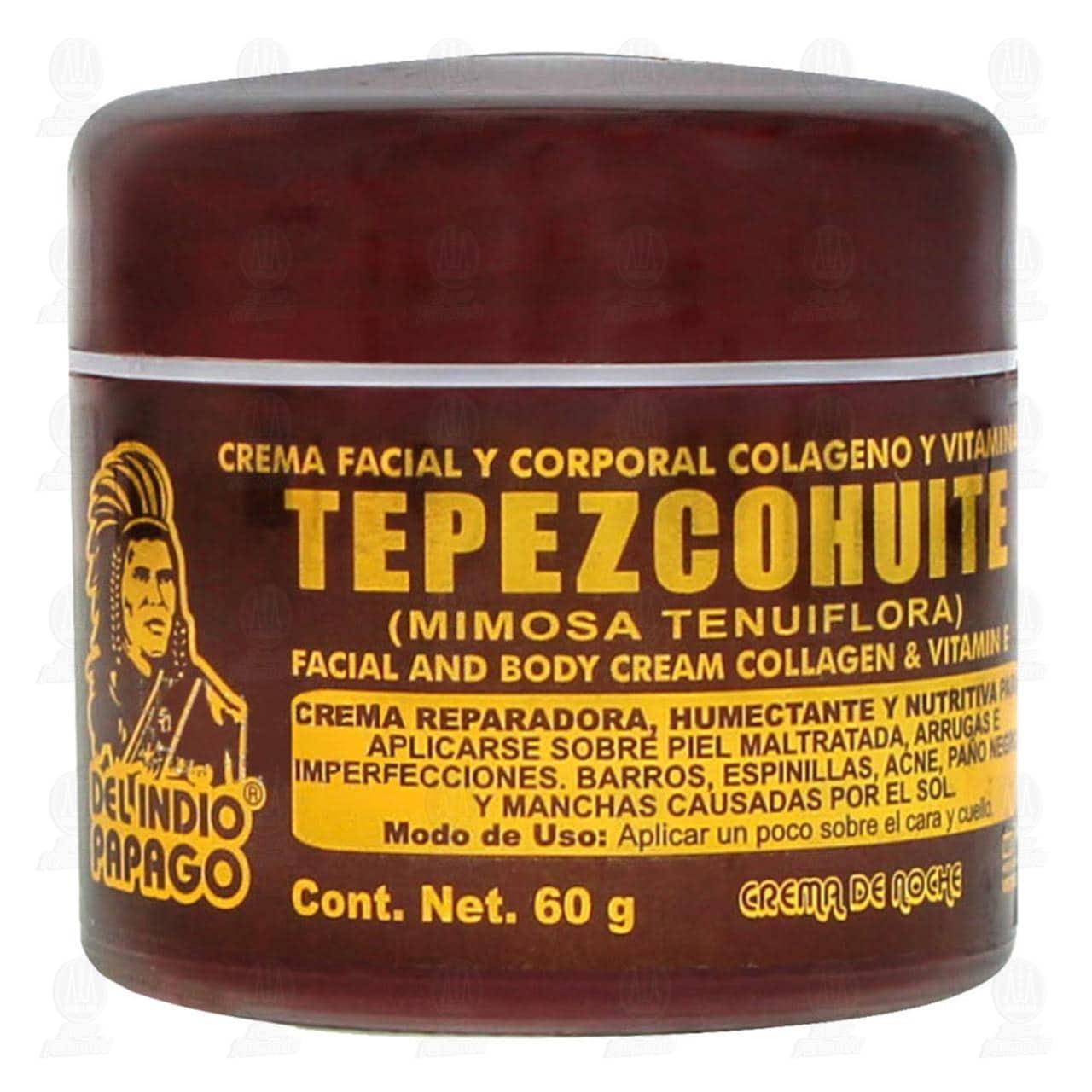 Comprar Crema Corporal del Indio Papago de Tepezcohuite para la Noche, 60 gr. en Farmacias Guadalajara