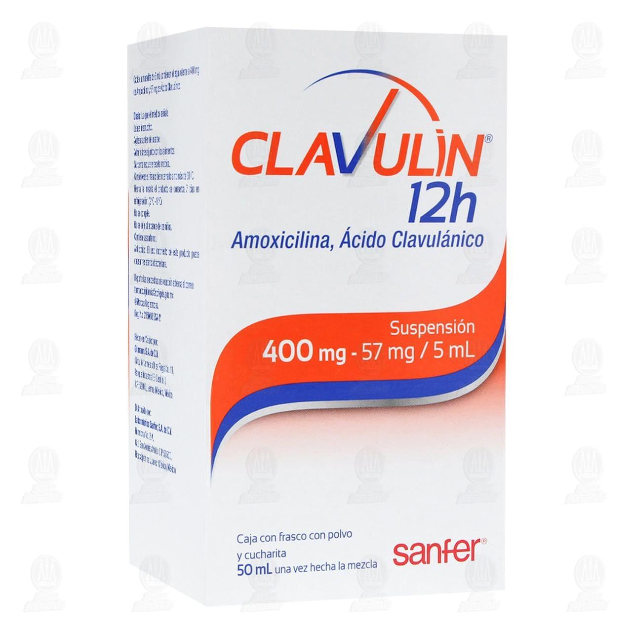 Comprar Clavulin 12h 400mg/57mg/5ml 50ml Suspensión en Farmacias Guadalajara
