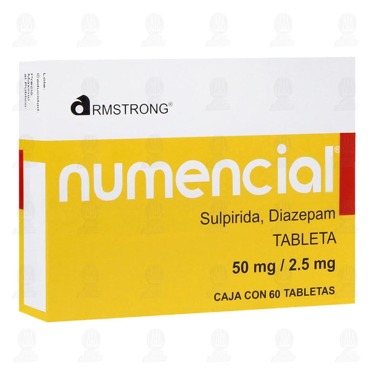 Comprar Numencial 50mg/2.5mg 60 Tabletas en Farmacias Guadalajara