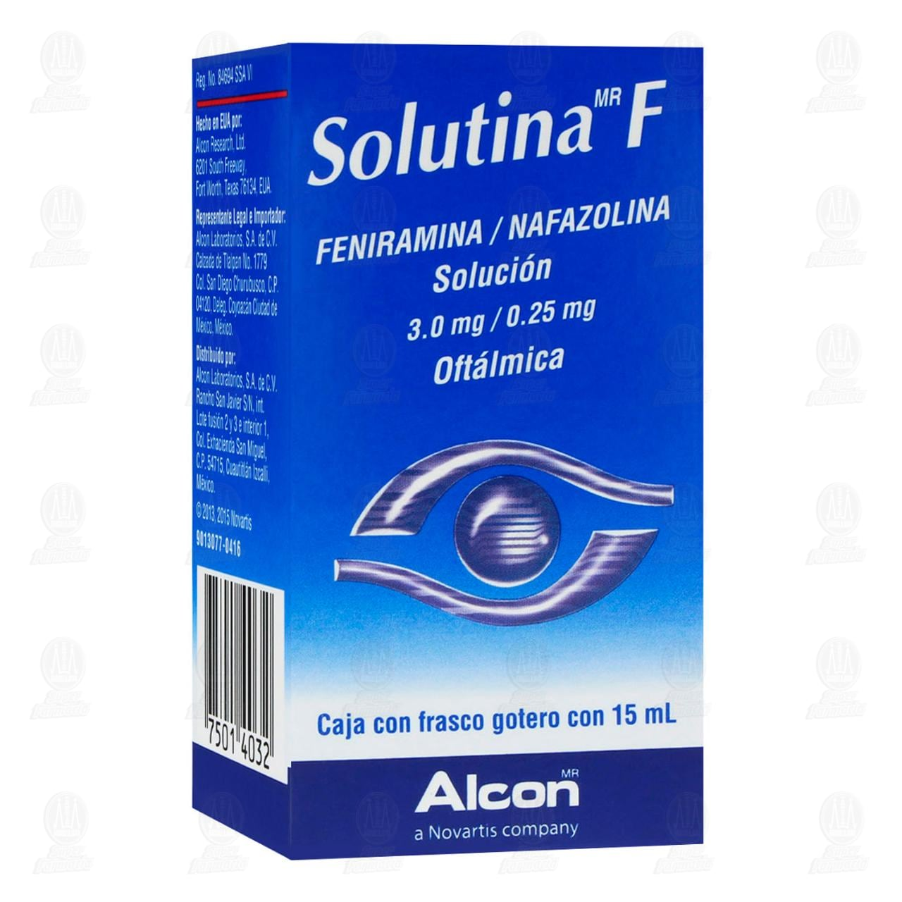 Comprar Solutina F 3.0mg/0.25mg 15ml Solución Oftálmica Gotas en Farmacias Guadalajara