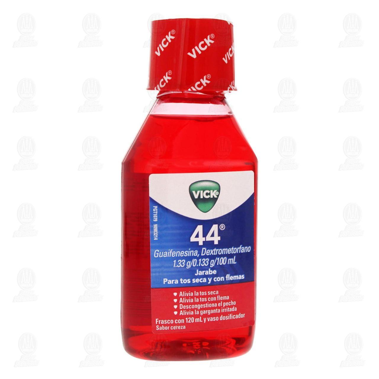 Comprar Jarabe Vick 44 Sabor Cereza 120ml en Farmacias Guadalajara