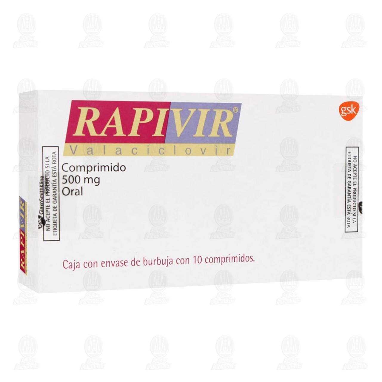 Comprar Rapivir 500mg 10 Comprimidos en Farmacias Guadalajara