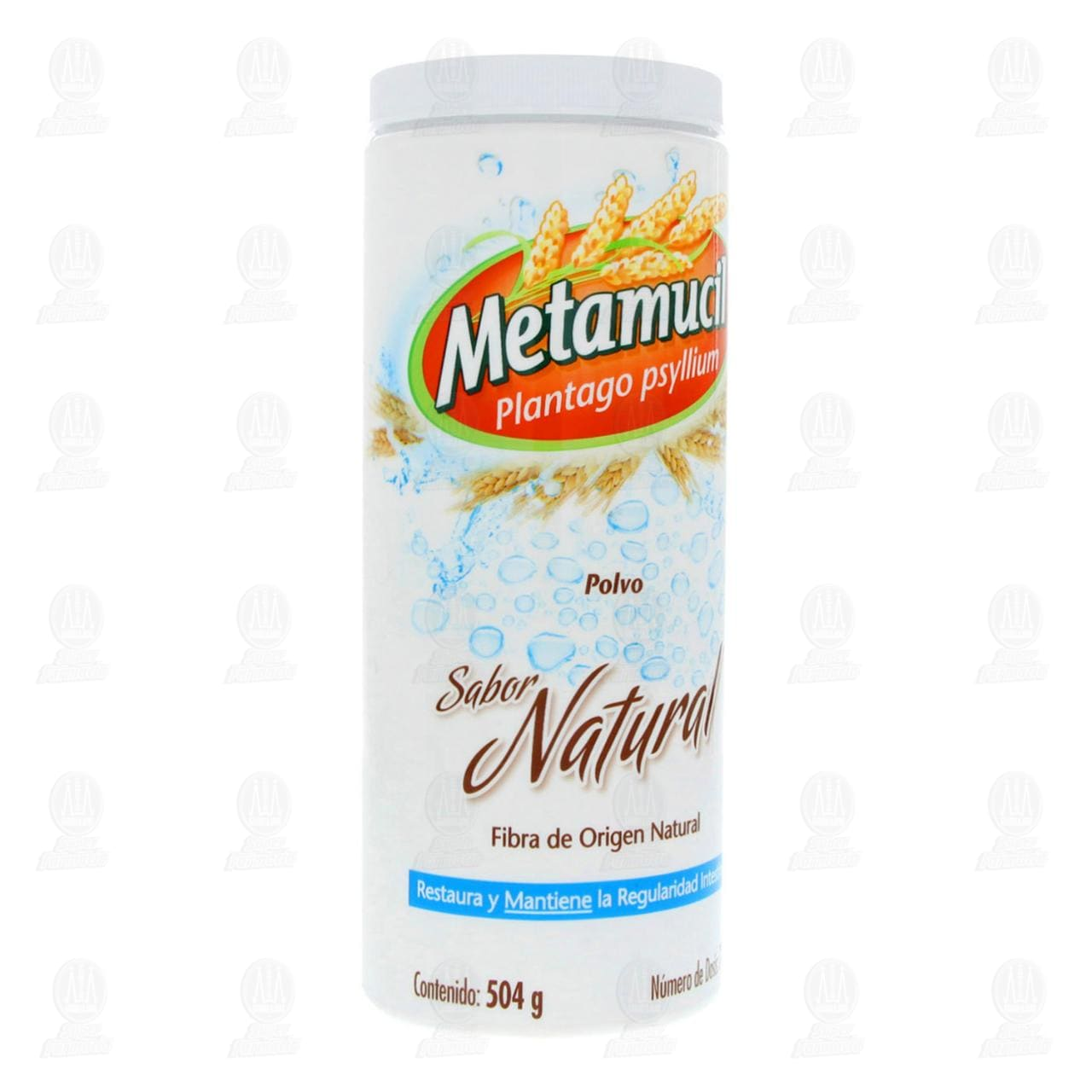 Comprar Fibra Natural Metamucil Sabor Natural de 504gr 72 Dosis en Farmacias Guadalajara