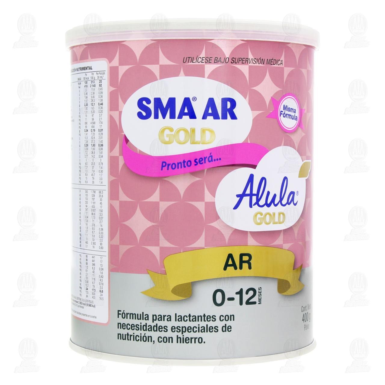 Comprar Fórmula Infantil SMA AR Gold en Polvo (Edad 0-12 Meses), 400 gr. en Farmacias Guadalajara