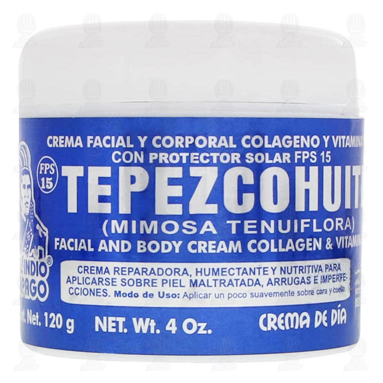 Comprar Crema Corporal del Indio Papago de Tepezcohuite para el Día, 120 gr. en Farmacias Guadalajara
