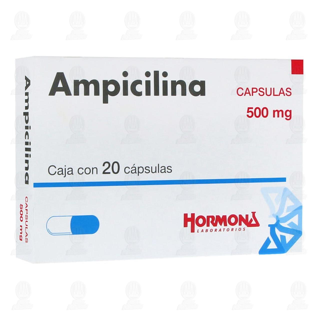 Comprar Ampicilina 500mg 20 Cápsulas en Farmacias Guadalajara