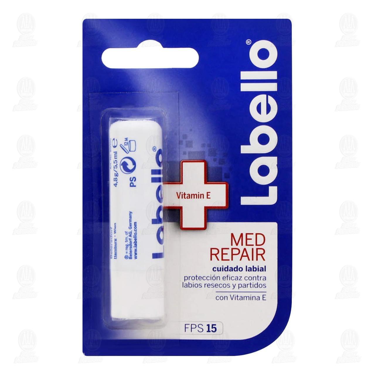 Comprar Labello Bálsamo Labial Hidratante FPS 15 Med Repair, 4.5gr. en Farmacias Guadalajara