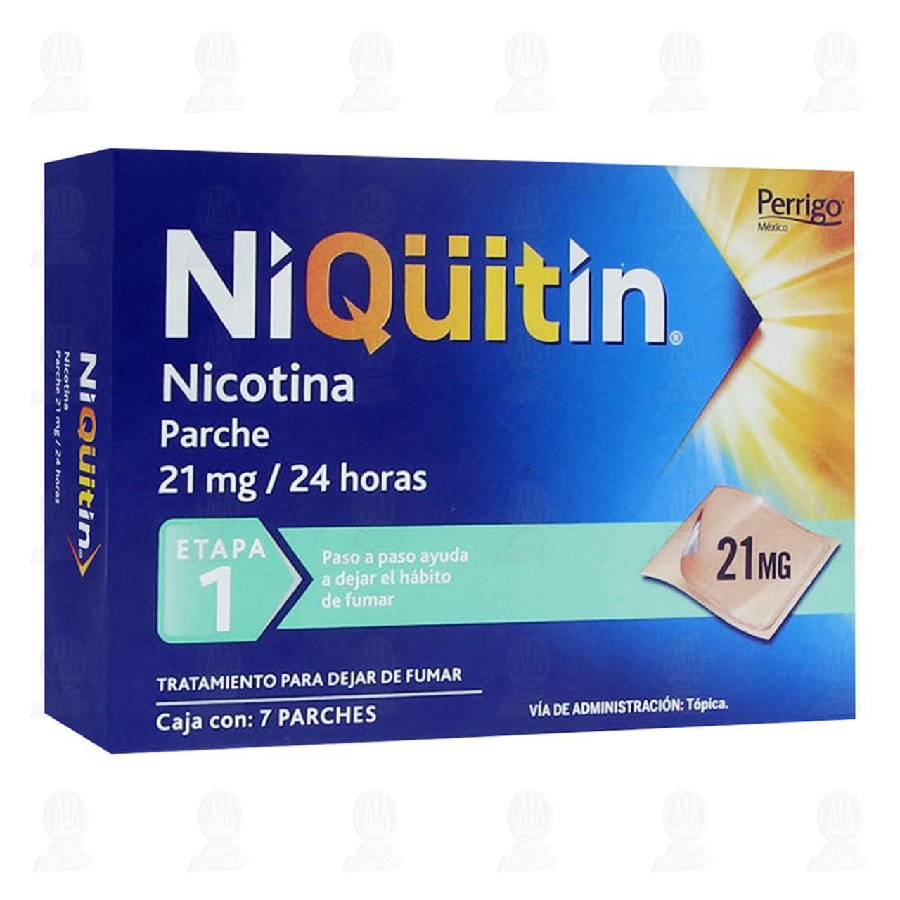 Comprar Niqüitin Etapa 1 21mg/24 Horas 7 Parches en Farmacias Guadalajara