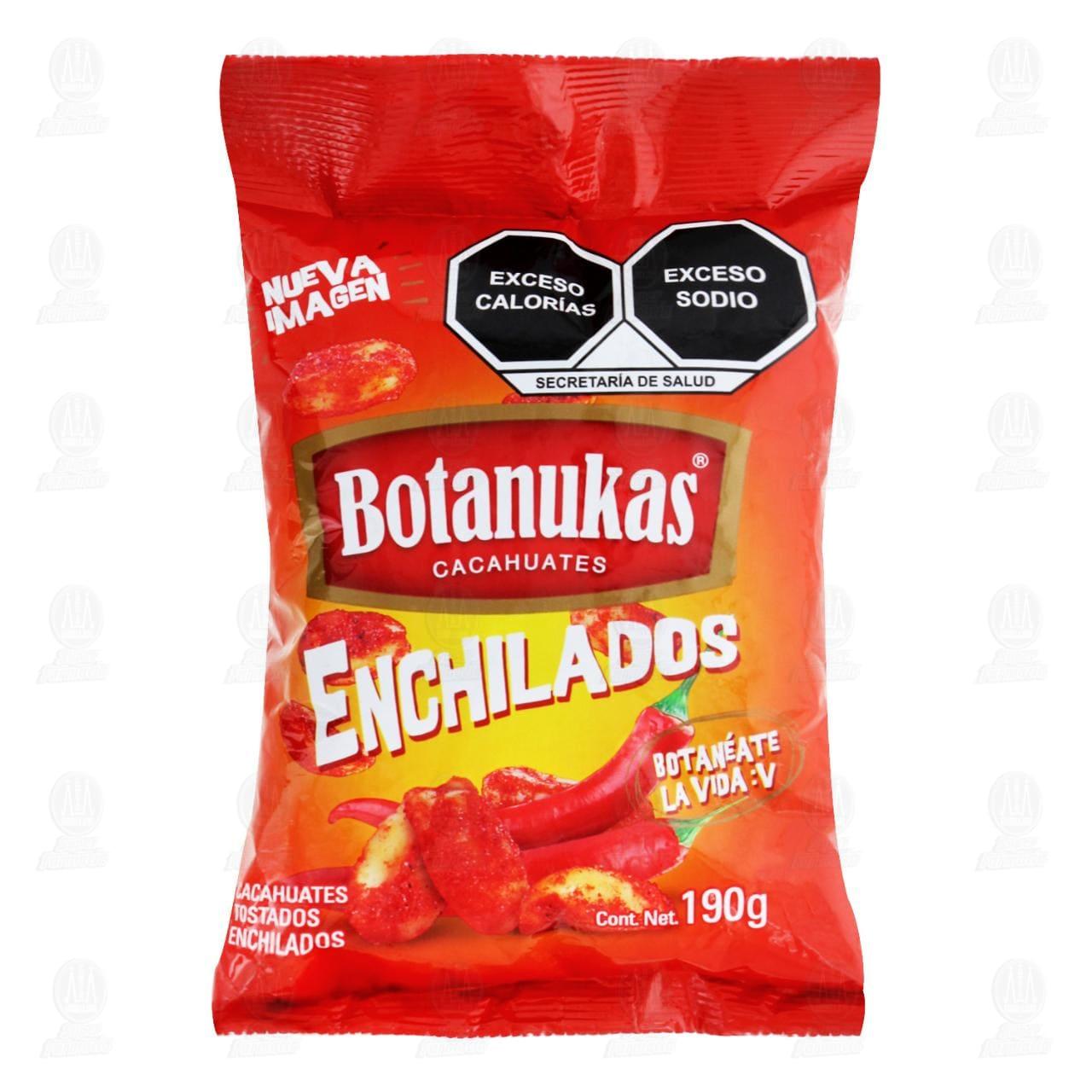 Cacahuates Botanukas Tostados Enchilados 190 gr.