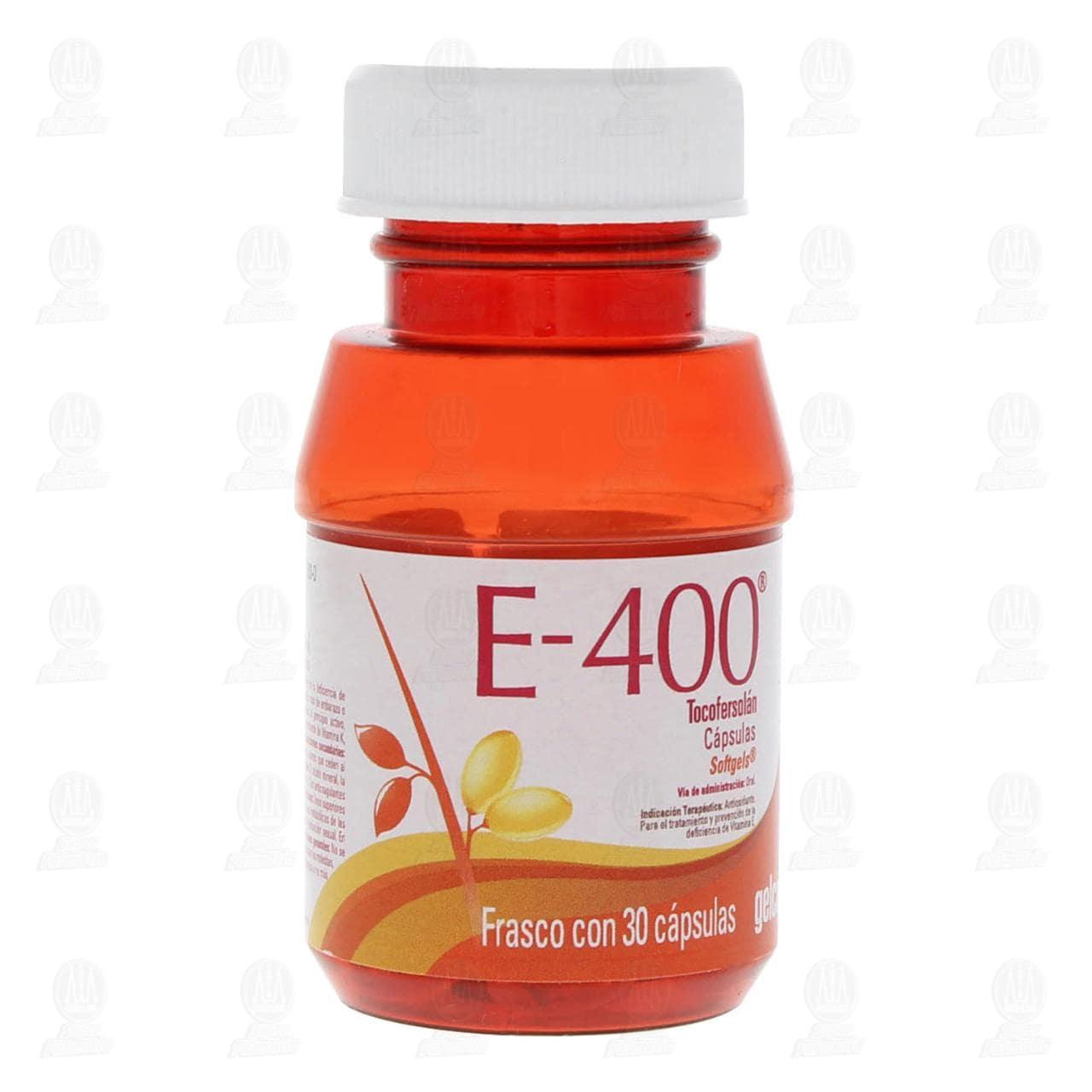 Comprar Vitamina E-400 Gelcaps 30 Cápsulas en Farmacias Guadalajara