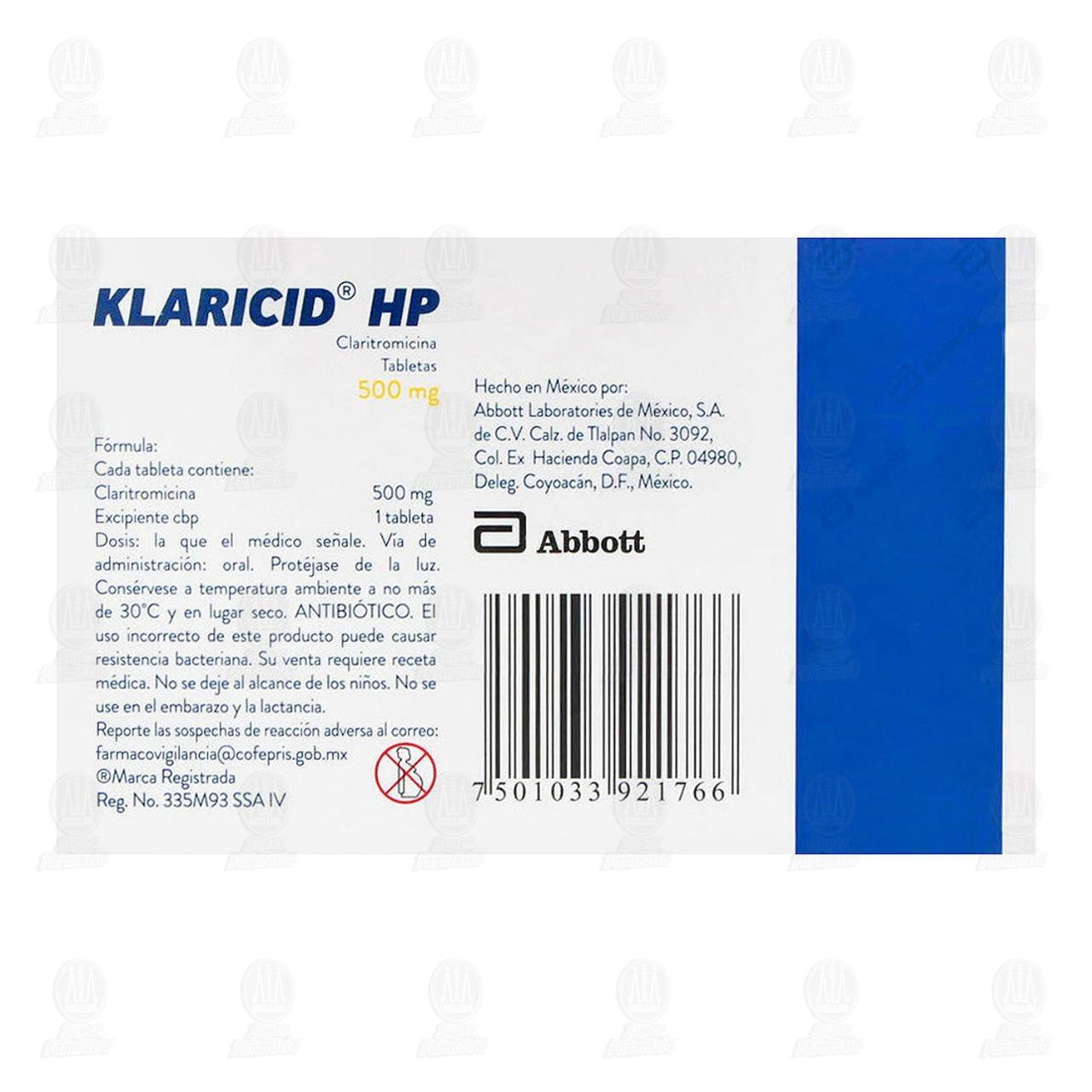 Klaricid Hp 500mg 14 Tabletas