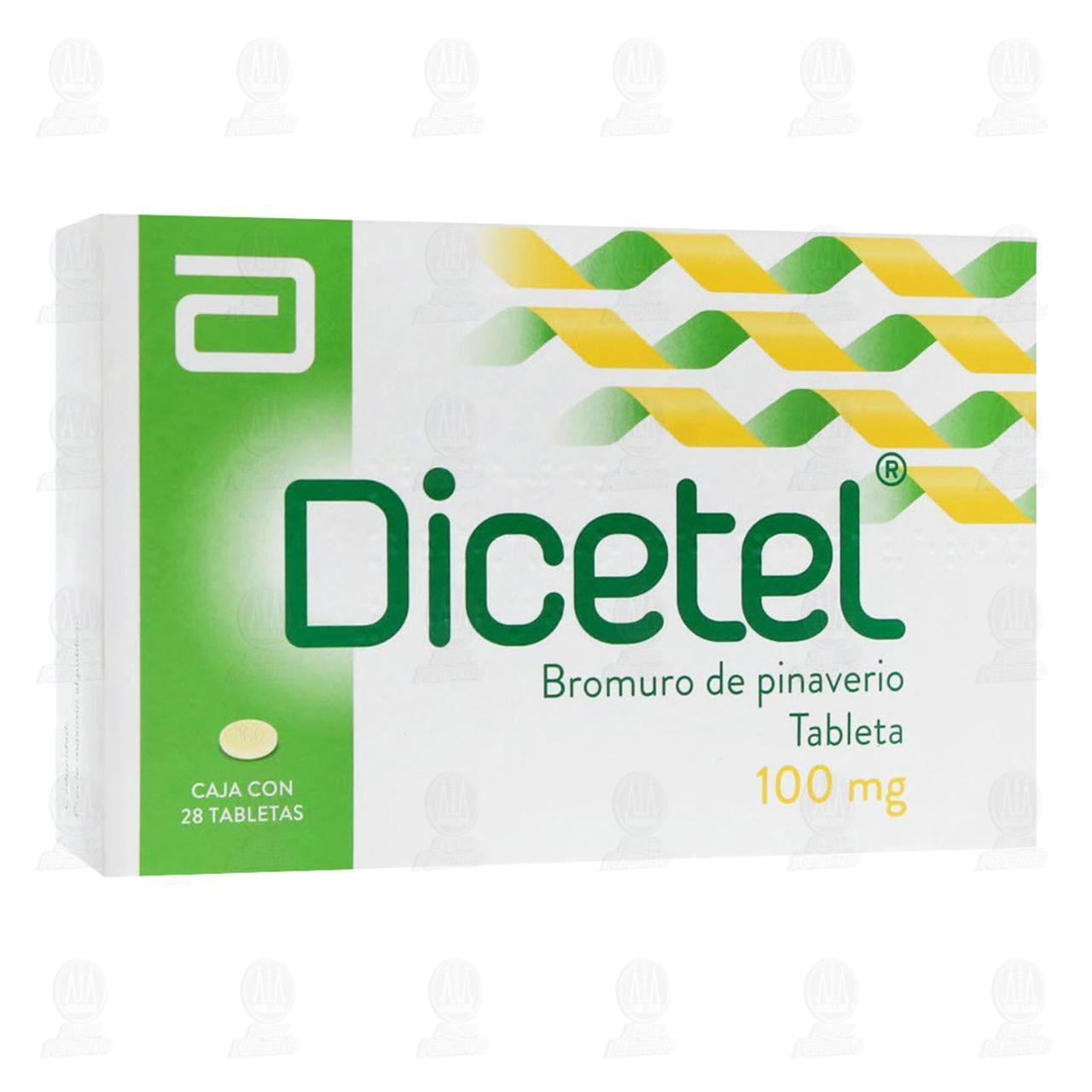 Comprar Dicetel 100mg 28 Tabletas en Farmacias Guadalajara