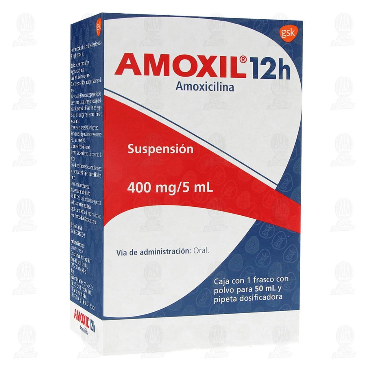 Comprar Amoxil 12h 400mg/5ml 50ml Suspensión en Farmacias Guadalajara