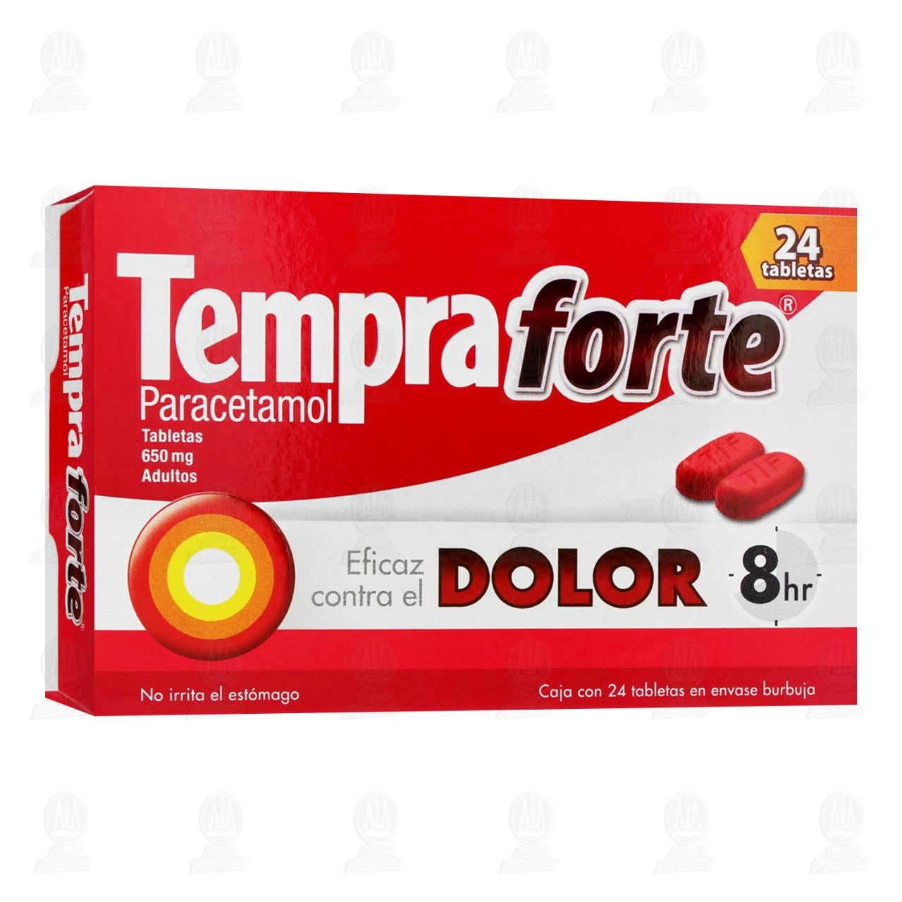 Comprar Tempra Forte 650mg 24 Tabletas en Farmacias Guadalajara