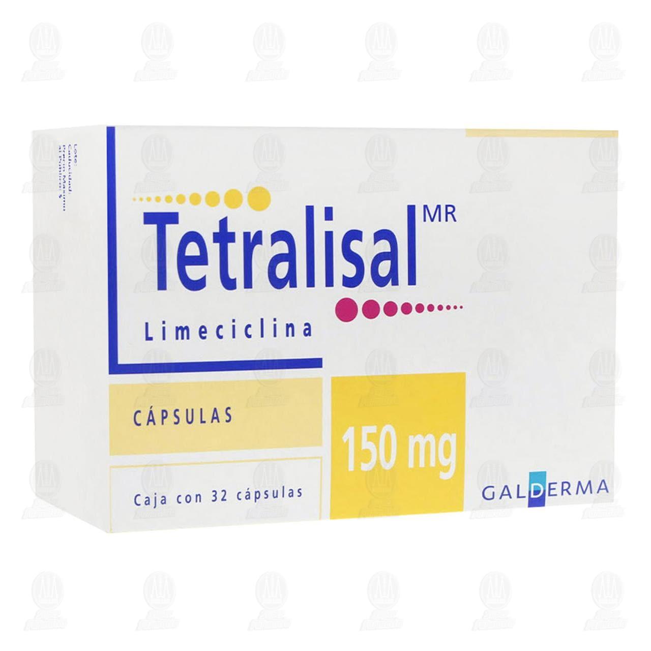 Comprar Tetralisal 150mg, 32 Cápsulas. en Farmacias Guadalajara
