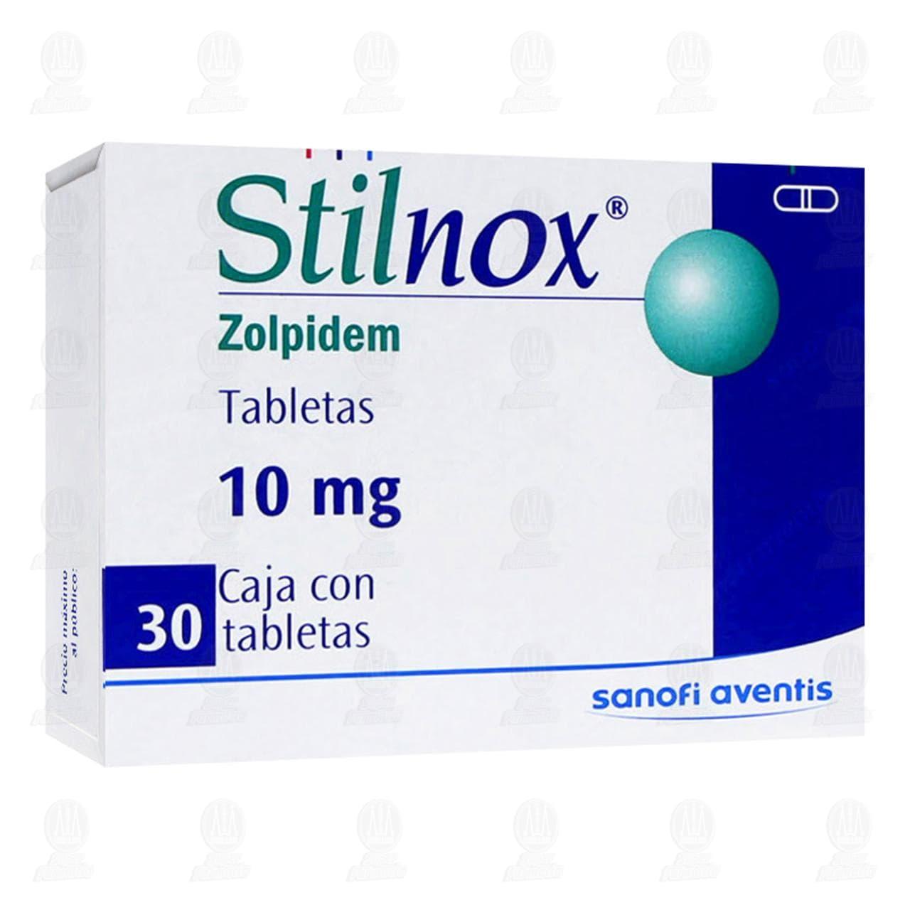 Comprar Stilnox 10mg 30 Tabletas en Farmacias Guadalajara