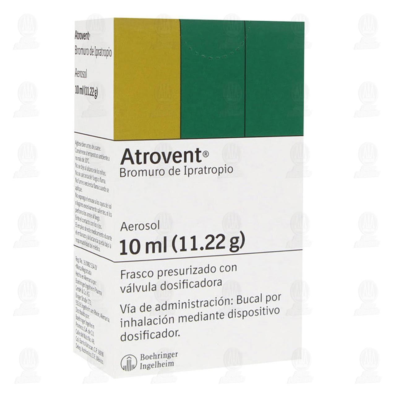 Comprar Atrovent 10ml (11.22gr) Suspensión Aerosol en Farmacias Guadalajara