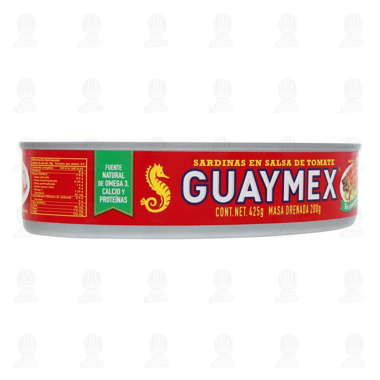 Sardinas Guaymex en Salsa de Tomate, 425 gr.