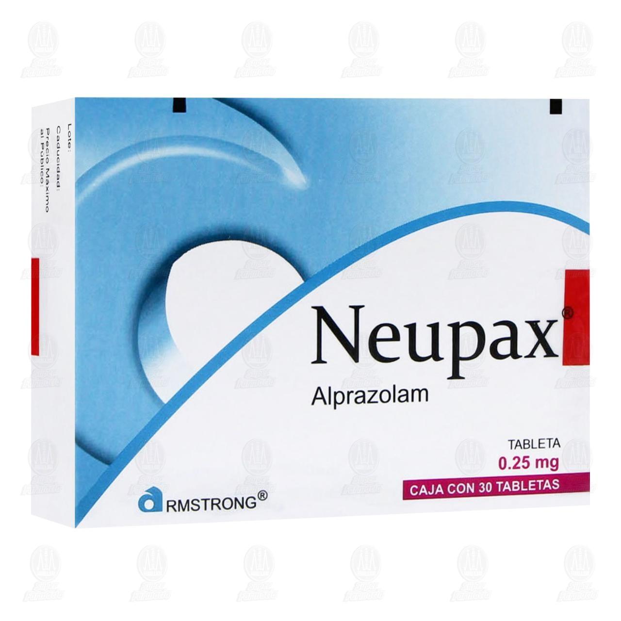 Comprar Neupax 0.25mg 30 Tabletas en Farmacias Guadalajara
