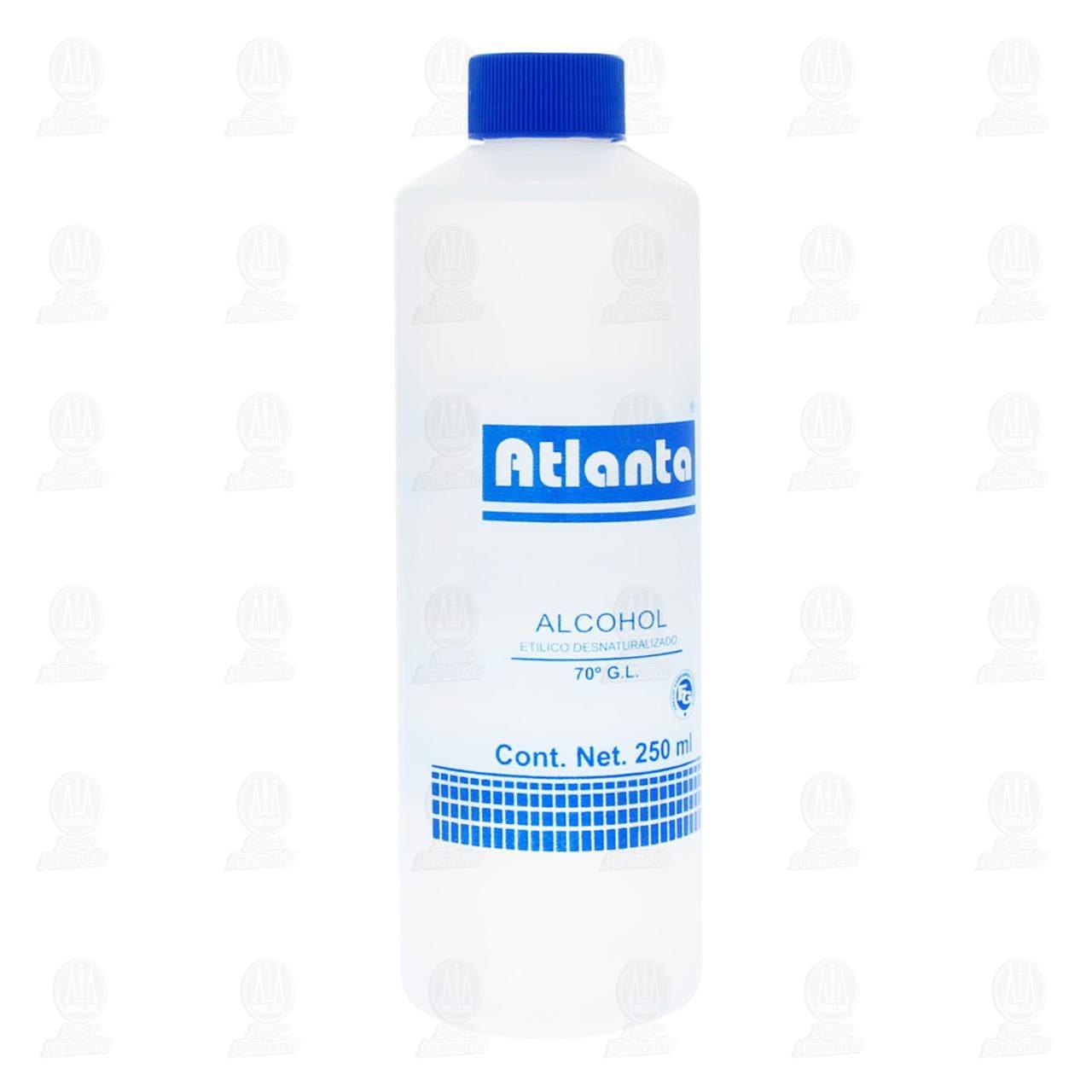 Alcohol Atlanta Etílico 70° Azul 250ml
