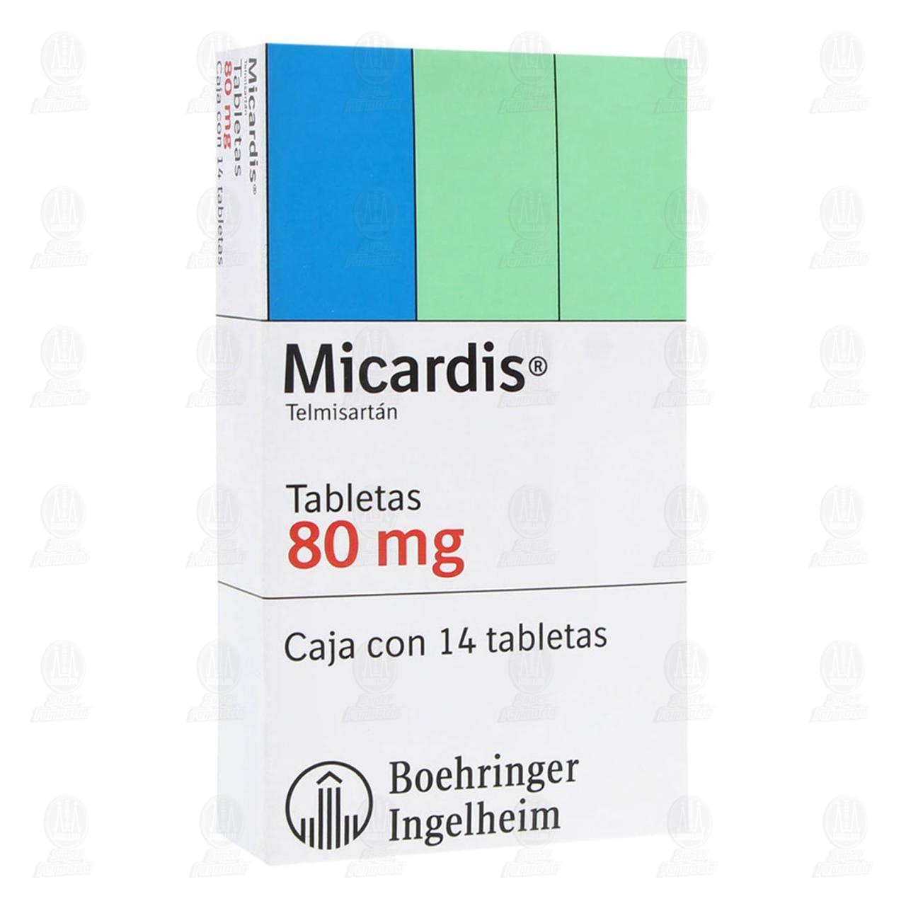 Comprar Micardis 80mg 14 Tabletas en Farmacias Guadalajara