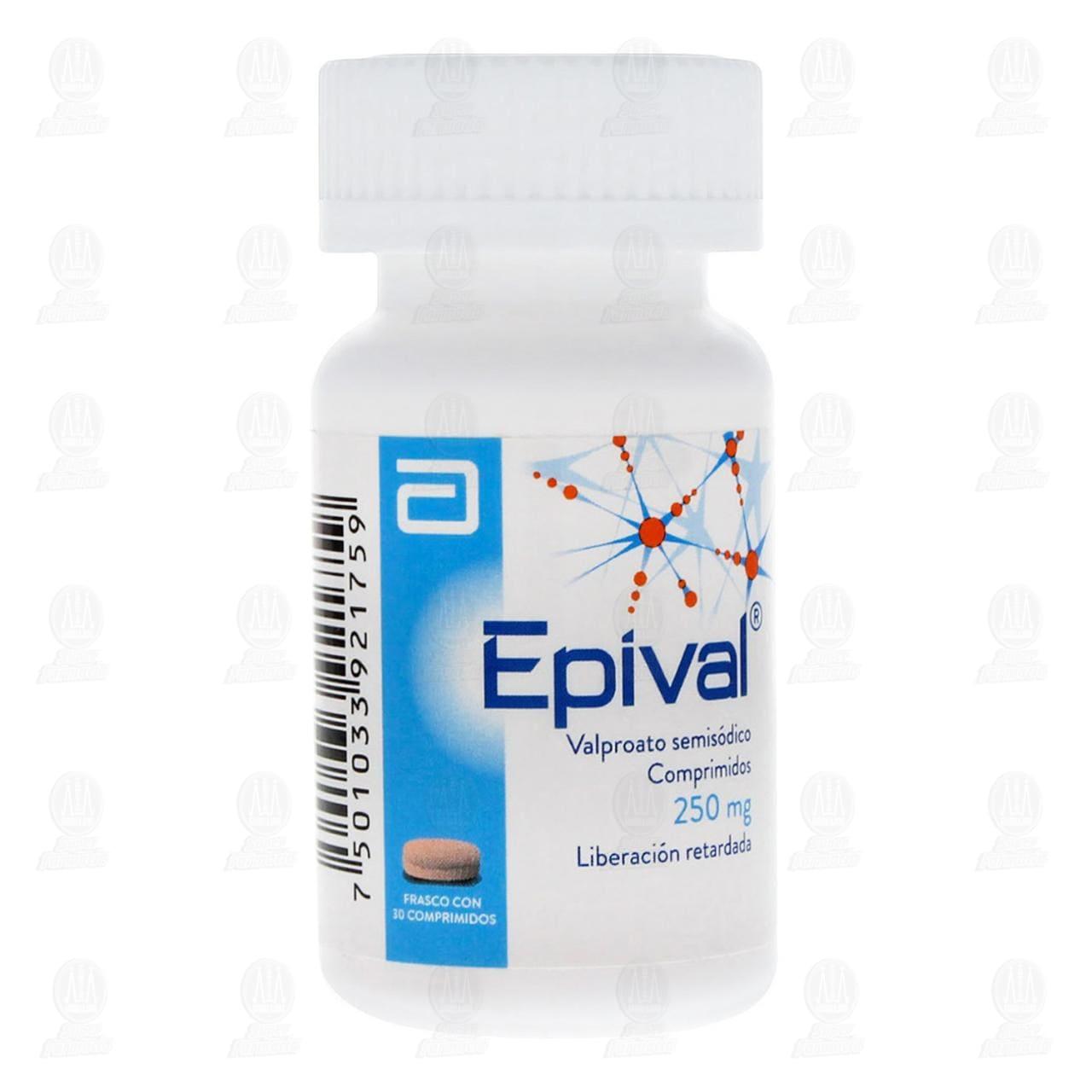Comprar Epival 250mg 30 Comprimidos en Farmacias Guadalajara