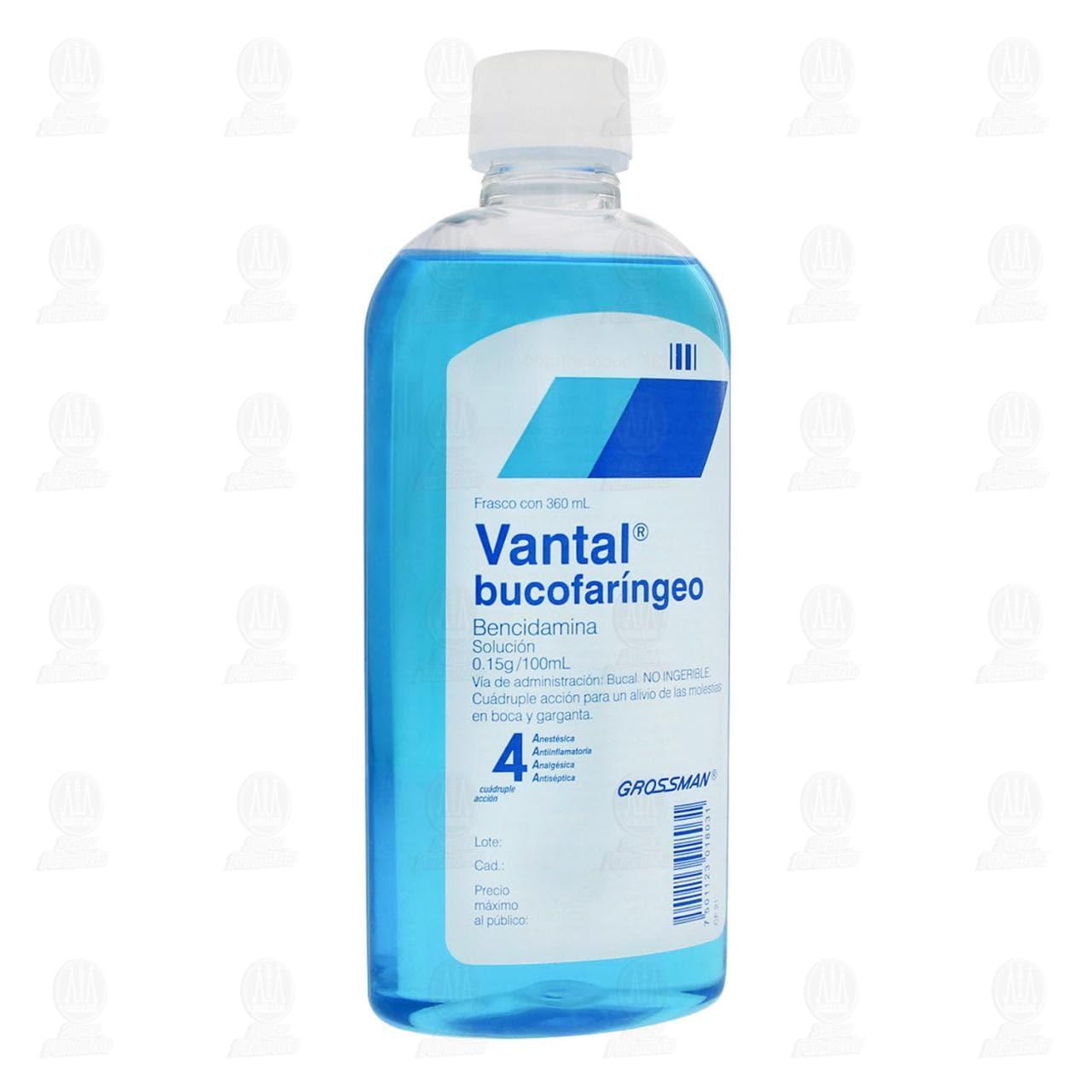 Comprar Vantal Bucofaríngeo 360ml Solución en Farmacias Guadalajara