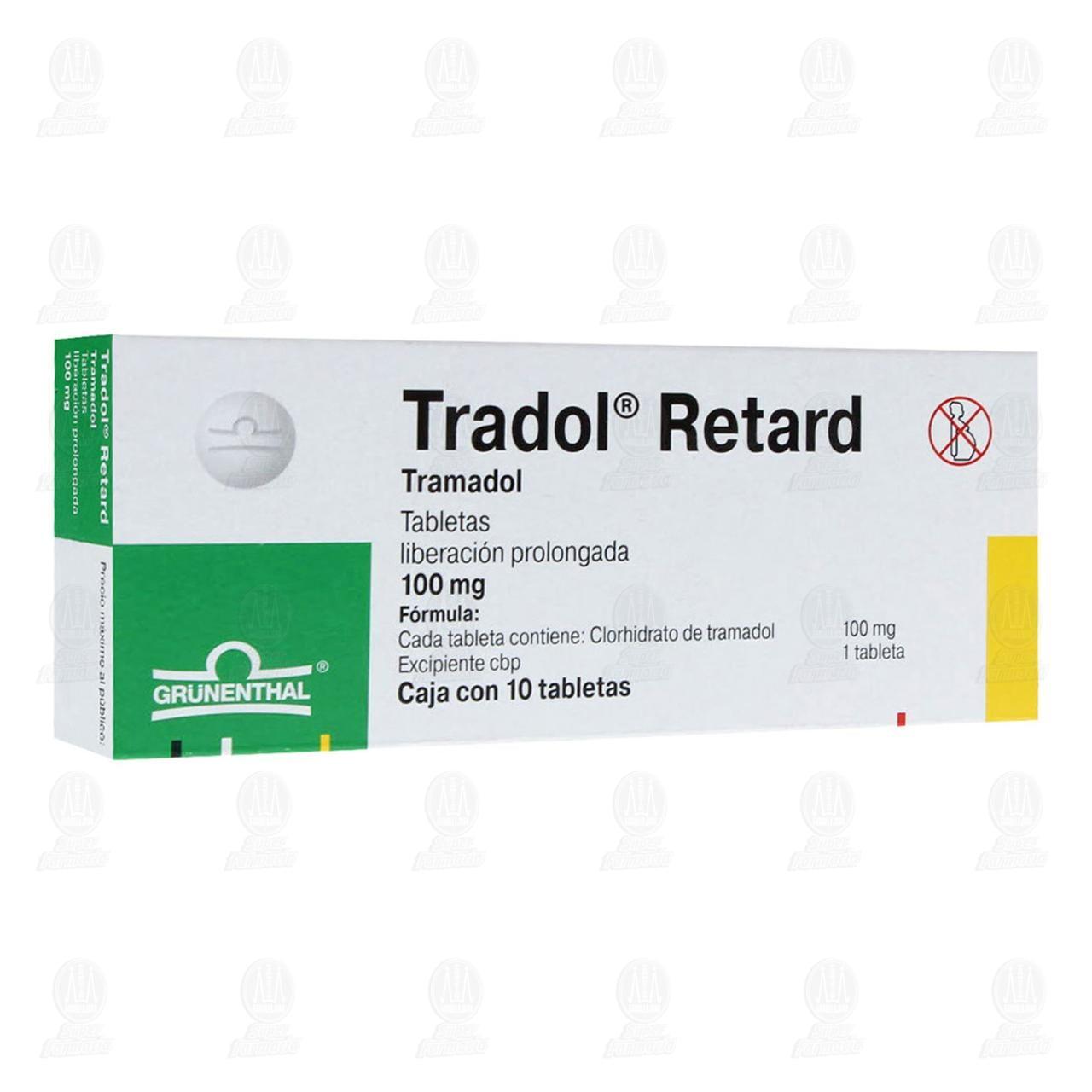 Comprar Tradol Retard 100mg 10 Tabletas en Farmacias Guadalajara