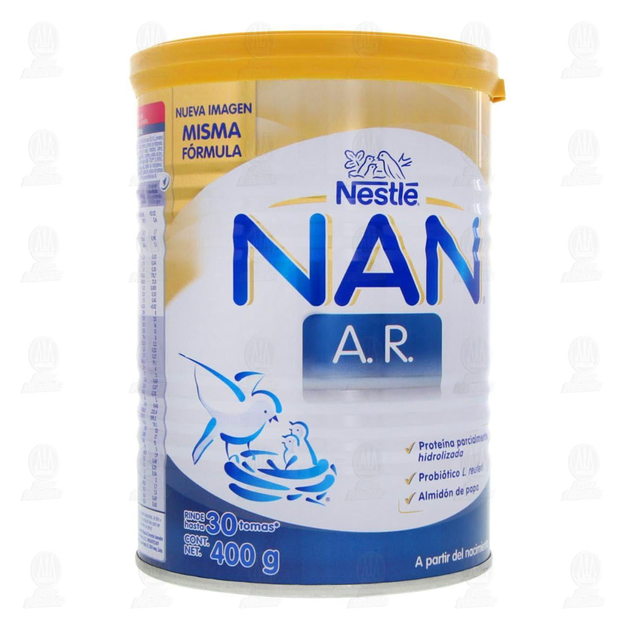 Fórmula Infantil Nestlé Nan A.R. en Polvo (A Partir del Nacimiento), 400 gr.