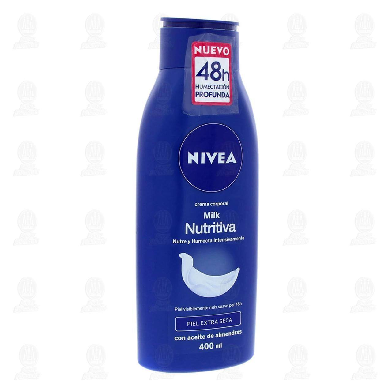Comprar Nivea Crema Corporal Milk Nutritiva para Piel Extra Seca, 400ml. en Farmacias Guadalajara