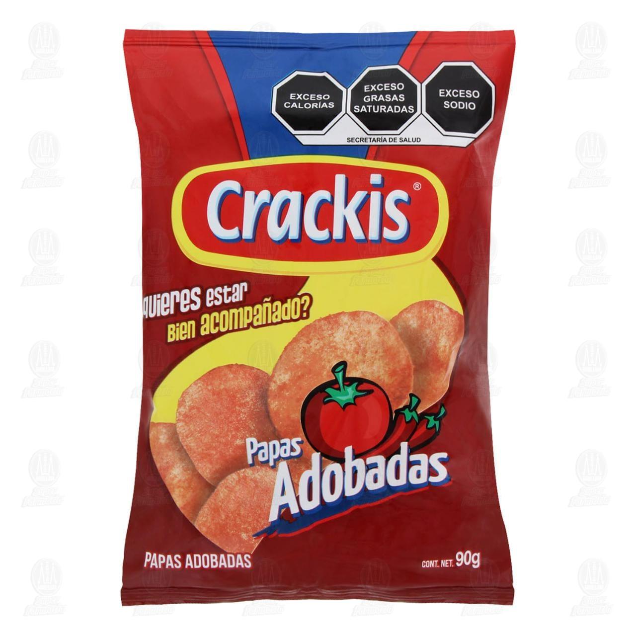 Botana Crackis Papas Adobadas, 90 gr.
