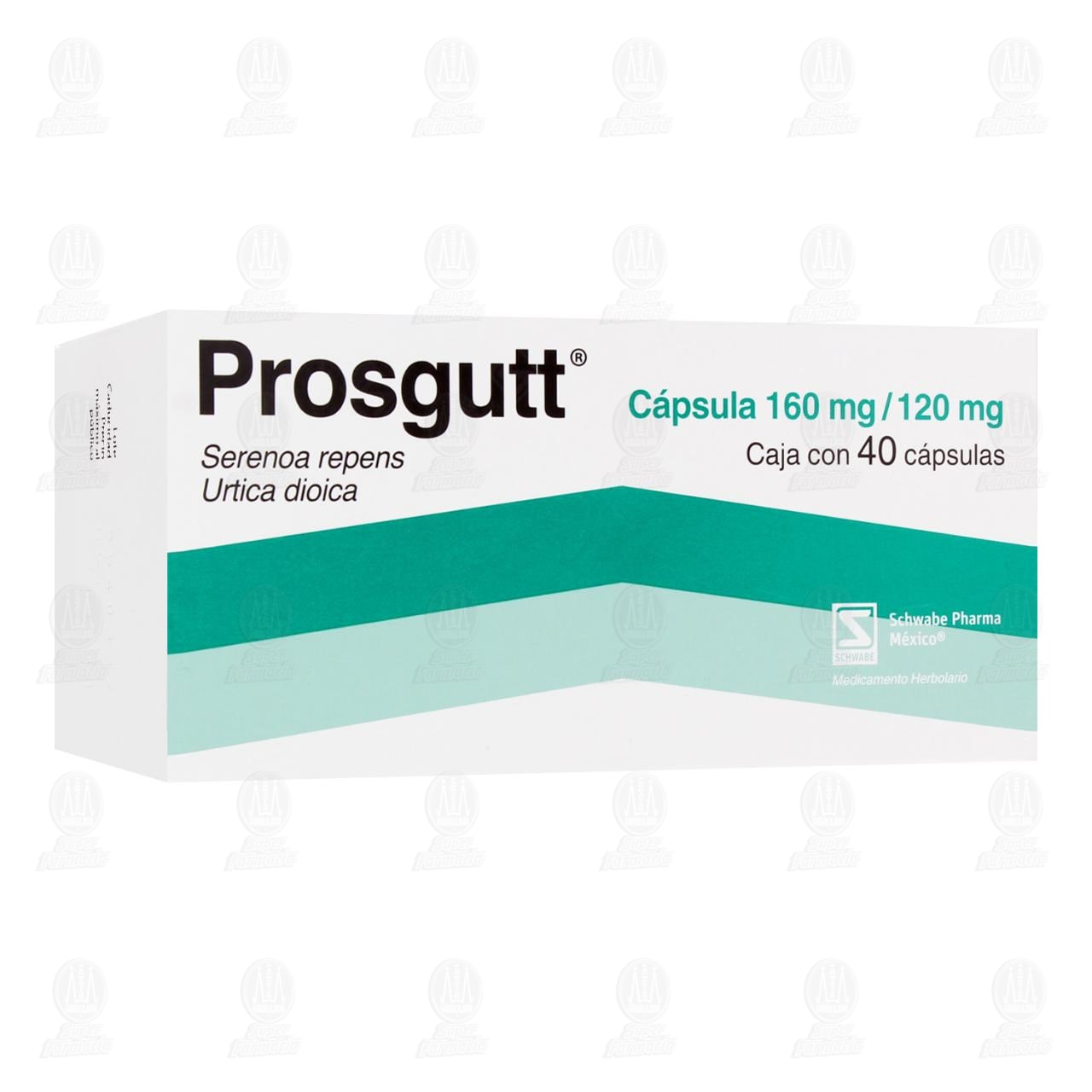 Comprar Prosgutt 160mg/120mg 40 Cápsulas en Farmacias Guadalajara