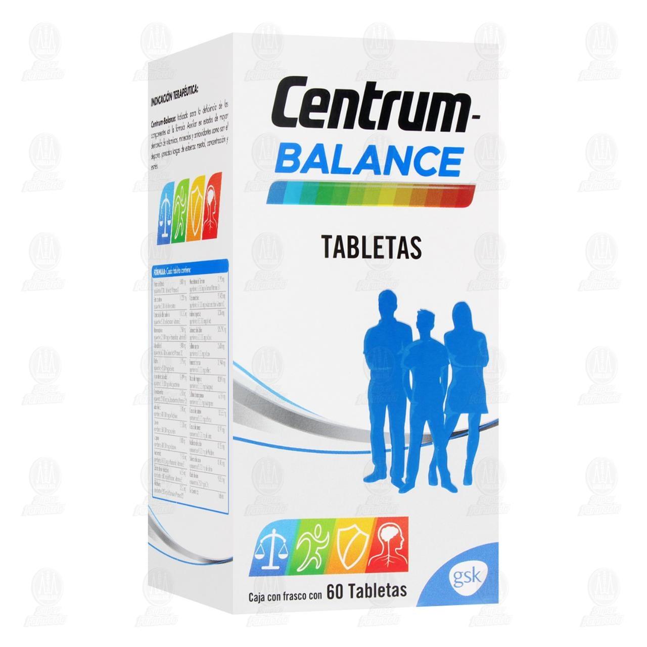 Comprar Centrum Balance 60 Tabletas en Farmacias Guadalajara