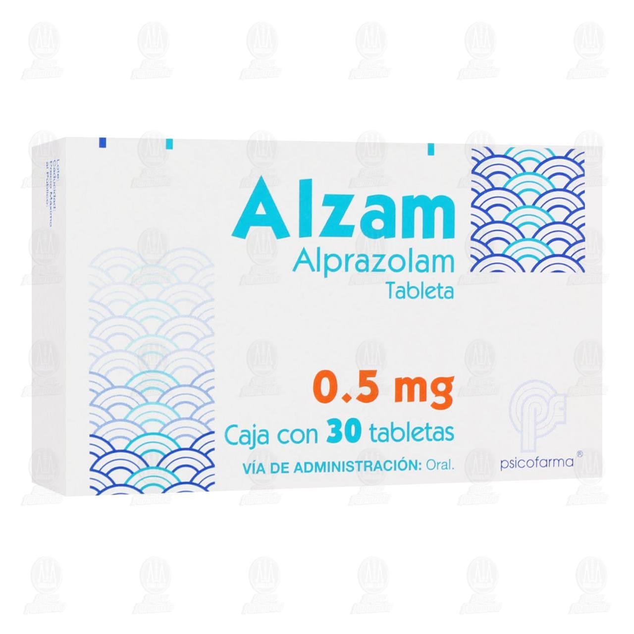 Comprar Alzam 0.5mg 30 Tabletas en Farmacias Guadalajara