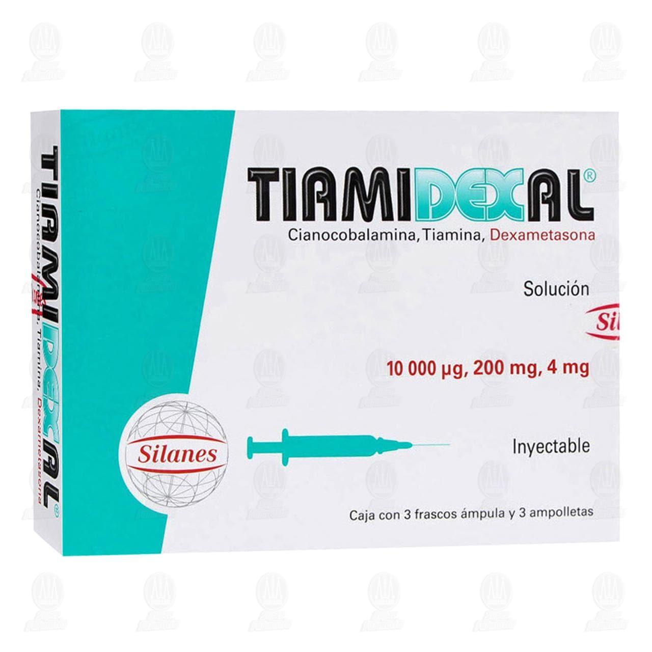 Comprar Tiamidexal 10000mcg/200mg/4mg 3 Ámpulas 3 Ampolletas en Farmacias Guadalajara
