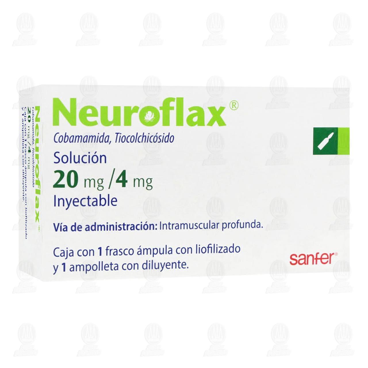 Comprar Neuroflax 20mg/4mg Solución Inyectable 1 Ámpula 1 Ampolleta en Farmacias Guadalajara